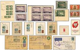 **/*/F/B Corpo Polacco + Polonia Tedesca + Governo Polacco In Esilio - 1939-1954 - 3 Cartelle Marini + Custodia + Fogli  - Stamps