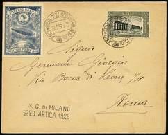 """B Italia/Polo Nord - 1928 - Dirigibile """"Italia"""" - Busta Spedita A Roma Con C.50+20, Sassone N.221, Ann. Con Il Timbro De - Stamps"""