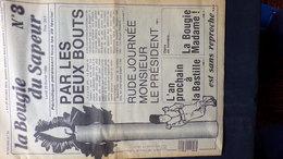 LA BOUGIE DU SAPEUR- N° 3- JOURNAL HUMORISTIQUE -RIRE- 29 FVRIER 1988- BASTILLE- JEAN D' INDY-LIMOUSIN -CROCQ-CREUSE- - Journaux - Quotidiens