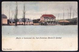 """IN KLEUR ! ** RHODE-SAINT-GENESE"""" - Sept Fontaines - Vue Sur Le Restaurant, La Ferme Et Le Moulin -  Nels SINT GENESIUS - Rhode-St-Genèse - St-Genesius-Rode"""