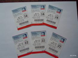 BELGIUM 2012. Antwerpen Kinepolis Movie Tickets X 6. (USED). - Tickets - Vouchers
