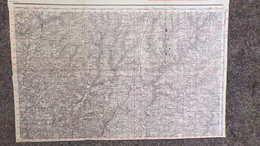 24- RARE CARTE 1909- VILLARS-THIVIERS-SAINT SULPICE EXCIDEUIL-SARRAZAC-JUMILHAC-CHALEIX-SAINT PARDOUX-QUINSAC-VAUNAC- - Mapas Topográficas