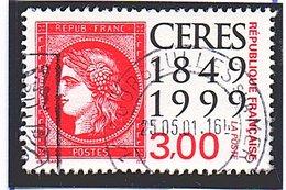 """Type CERES DE 1938 - 150e Anniv. Du Premier Timbre-poste Français - (""""Cérés Rouge"""" De 1849 Sur Timbre)  N° 3212  Obl. - France"""