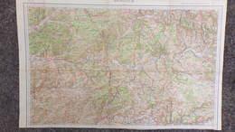 24- RARE CARTE 1909- LALINDE- BERGERAC-MUSSIDAN-LE BUISSON-EYMET-TERRASSON-GOURDON-FUMEL-VILLEREAL-ISSIGEAC - Mapas Topográficas