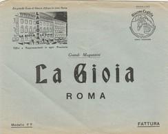 Roma.  Lettera  Pubbliciaria  GRANDI MAGAZZINI LA GIOIA - Fatture & Documenti Commerciali