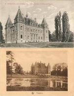 Peteghem - Lez - Audenaerde : Château ( Wortegem-Petegem) --- 2 Kaarten. - Wortegem-Petegem