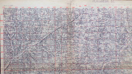 24- RARE CARTE 1909- PERIGUEUX-TRELISSAC-BASSILLAC-CUBJAC-BROUCHAUD-SAVIGNAC-EXCIDEUIL-NEGRONDES-AGONAC-CORNILLE-SARLIAC - Cartes Topographiques