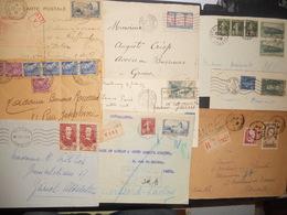 France Collection , Lot De 15 Lettres, Carte Annees 30 Et Un Devant (recommande De Verdun ) De Jolis Affranchissements - France