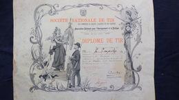 24- CHAMPAGNAC DE BELAIR- RARE DIPLOME DE TIR  -L. LAJARTHE-DORDOGNE-1908- SAINT AULAIRE - CHASSE- - Diploma & School Reports