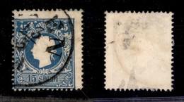 0004 ANTICHI STATI - LOMBARDO VENETO - 1859 - 15 Soldi (32) Usato A Vienna (425) - Stamps