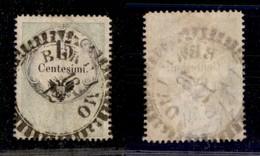 0006 ANTICHI STATI - LOMBARDO VENETO - Bergamo (RD-P.ti 13) - 15 Cent (3-Marche Da Bollo) - Molto Bello - Cert. AG - Stamps