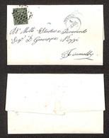 0009 ANTICHI STATI - MODENA - 5 Cent Oliva (8) Isolato Su Lettera Da Modena A Fiumalbo Del 4.8.56 -  Molto Bello (1.000) - Stamps