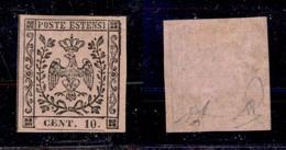 0010 ANTICHI STATI - MODENA - 1852 - 10 Cent (9) - Traccia Di Linguella - Diena (800) - Stamps
