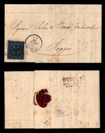 0013 ANTICHI STATI - MODENA - Governo Provvisorio (28.9.59) - Lettera Da Modena A Reggio Con 40 Cent (10) Sfuggito All'a - Stamps