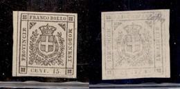 0014 ANTICHI STATI - MODENA - 1859 - 15 Cent (13) Bordo Foglio - Gomma Integra - Molto Bello - Colla (7.500) - Stamps