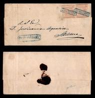 0017 ANTICHI STATI - NAPOLI - Campagna/Annullato (azzurro-P.ti 8) - 1 Grano (3) - Coppia Verticale Su Piego Per Salerno  - Stamps