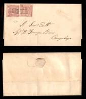 0018 ANTICHI STATI - NAPOLI - 1 Grano Carminio (3c) - Due Pezzi Con Ottimi Margini Su Piego Da Larino A Campobasso - Spl - Stamps