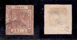 0021 ANTICHI STATI - NAPOLI - R.) Posta M(ilitare Sarda) - 5 Grana (9) - Diena - Stamps