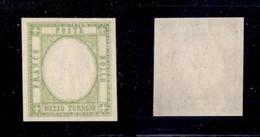 0024 ANTICHI STATI - NAPOLI - 1861 - Senza Effigie - 1/2 Tornese (17ala) Gommato Al Recto Con Gomma Integra - Non Catalo - Stamps