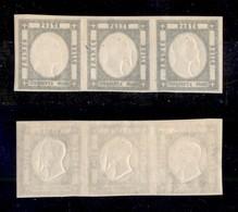 0028 ANTICHI STATI - NAPOLI - 1861 - Striscia Di Tre Del 50 Grana (24) - Gomma Integra (420++) - Stamps