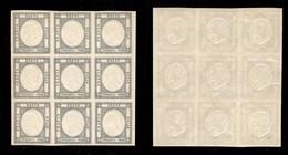 0030 ANTICHI STATI - NAPOLI - 1861 - 50 Grana (24c) - Blocco Di 9 - Gomma Integra - Molto Bello - Cert. AG - Stamps