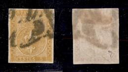 0036 ANTICHI STATI - PARMA - 1853 - 5 Cent (6) Annullato In Arrivo A Milano - Grandi Margini - Diena - Cert. AG - Stamps