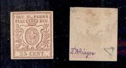 0040 ANTICHI STATI - PARMA - 1857 - 25 Cent (10) - Buoni Margini - Diena (1.500) - Stamps
