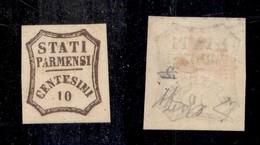 0042 ANTICHI STATI - PARMA - 1859 - 10 Cent (14) - Diena (2.200) - Stamps