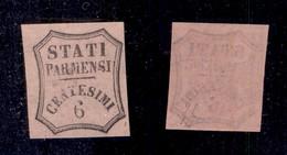 0047 ANTICHI STATI - PARMA - 1857 - Non Emesso - 6 Cent (1A-Segnatasse) - Gomma Integra - Diena (600) - Stamps