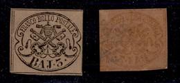 0050 ANTICHI STATI - PONTIFICIO - 1863 - 3 Bai (4Ab) - Gomma Integra - Sorani + Cert. AG (1.600) - Stamps
