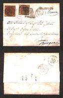 0051 ANTICHI STATI - PONTIFICIO - Bolsena/Griglia (Pti.9) - 3 Bai (4Ab) Su Lettera Per Roma Riaffrancata E Rispedita A P - Stamps