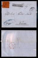0055 ANTICHI STATI - PONTIFICIO - 10 Cent (17) Isolato Su Lettera Da Roma A Narni Del 18.3.68 - Tassata - Stamps