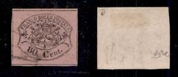 0056 ANTICHI STATI - PONTIFICIO - 1867 - 80 Cent (20) - Filetti Completi - Diena (850) - Stamps