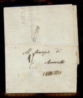 0060 ANTICHI STATI - ROMAGNE - Bazzano + Vergato + 1/2 - Manifesto Del 1.8.59 Da Bologna A Serravalle - Stamps