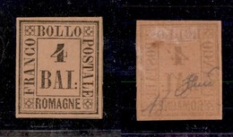 0061 ANTICHI STATI - ROMAGNE - 1859 - 4 Bai (5) - Ben Marginato - Diena (1.200) - Stamps