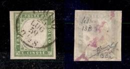 0070 ANTICHI STATI - SARDEGNA - 1858 - 5 Cent (13Ba) - Ottimi Margini - Sorani (400) - Stamps