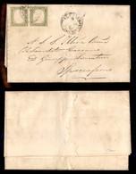 0072 ANTICHI STATI - SARDEGNA - 5 Cent (13Ca) - Coppia Orizzontale Su Lettera Da Palermo Del 18.5.61 - Ottimi Margini (1 - Stamps