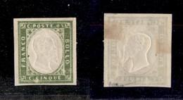 0073 ANTICHI STATI - SARDEGNA - 1861 - 5 Cent (13Cc) - Ottimi Margini - Cert. Raybaudi (1.200) - Stamps