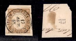 0080 ANTICHI STATI - SARDEGNA - Da Piacenza A Alessandria 1 (Pti.12) - 10 Cent (14E) - Bolaffi - Stamps