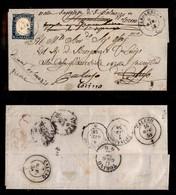 0082 ANTICHI STATI - SARDEGNA - Verolengo (Pti.13) - 20 Cent (15A) Corto A Sinistra Su Lettera Per Caluso Del 6.6.58 (11 - Stamps