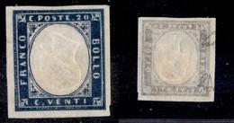 0084 ANTICHI STATI - SARDEGNA - 1857 - Effigie Capovolta - 20 Cent (15Dc) - Ottimi Margini - Diena (12.000) - Stamps