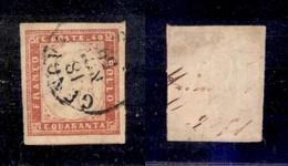 0087 ANTICHI STATI - SARDEGNA - 1859 - 40 Cent (16Ba) - Grandi Margini (600) - Stamps
