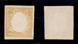 0089 ANTICHI STATI - SARDEGNA - 1859 - Senza Effigie - 80 Cent (17Aa) - Gomma Integra - Ottimi Margini - Molto Bello - C - Stamps