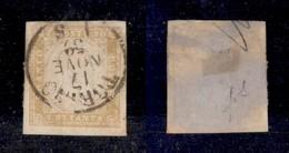 0090 ANTICHI STATI - SARDEGNA - 1859 - 80 Cent (17Aa) - Ottimi Margini - Torino 17.11.59 - Molto Bello - Fiecchi (1.600) - Stamps