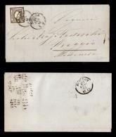 0092 ANTICHI STATI - SARDEGNA - 2 Cent (20a) Su Circolare Da Novara Del 26.2.61 - Ottimi Margini (800) - Stamps