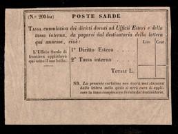 0093 ANTICHI STATI - SARDEGNA - 1859 - Segnatasse (4a) - Dicitura Stretta (300) - Stamps