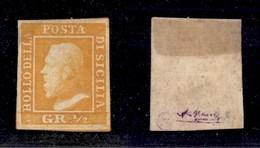 0094 ANTICHI STATI - SICILIA - 1859 - 1/2 Grano (1) - Ottimi Margini - Cert. AG (1.200) - Stamps