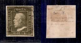 0096 ANTICHI STATI - SICILIA - 1859 - 1 Grano (5a) - Ottimi Margini (600) - Stamps