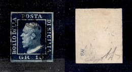 0103 ANTICHI STATI - SICILIA - 1859 - 10 Grana (12b) - Ottimi Margini - G.Bolaffi + Diena (900) - Stamps
