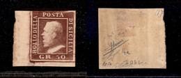 0104 ANTICHI STATI - SICILIA - 1859 - 50 Grana (14a) Angolo Di Foglio - G.Bolaffi + Raybaudi + Sorani - Stamps
